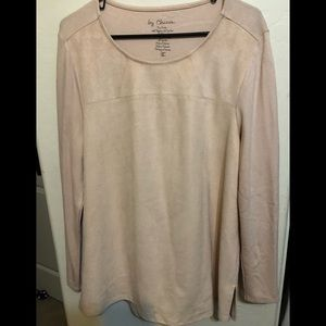 Chico's Faux Suede Shirt
